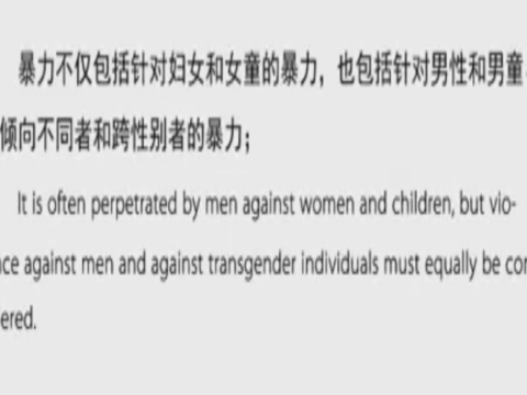 男性气质与预防性别暴力 Why Chinese men use violence to women?